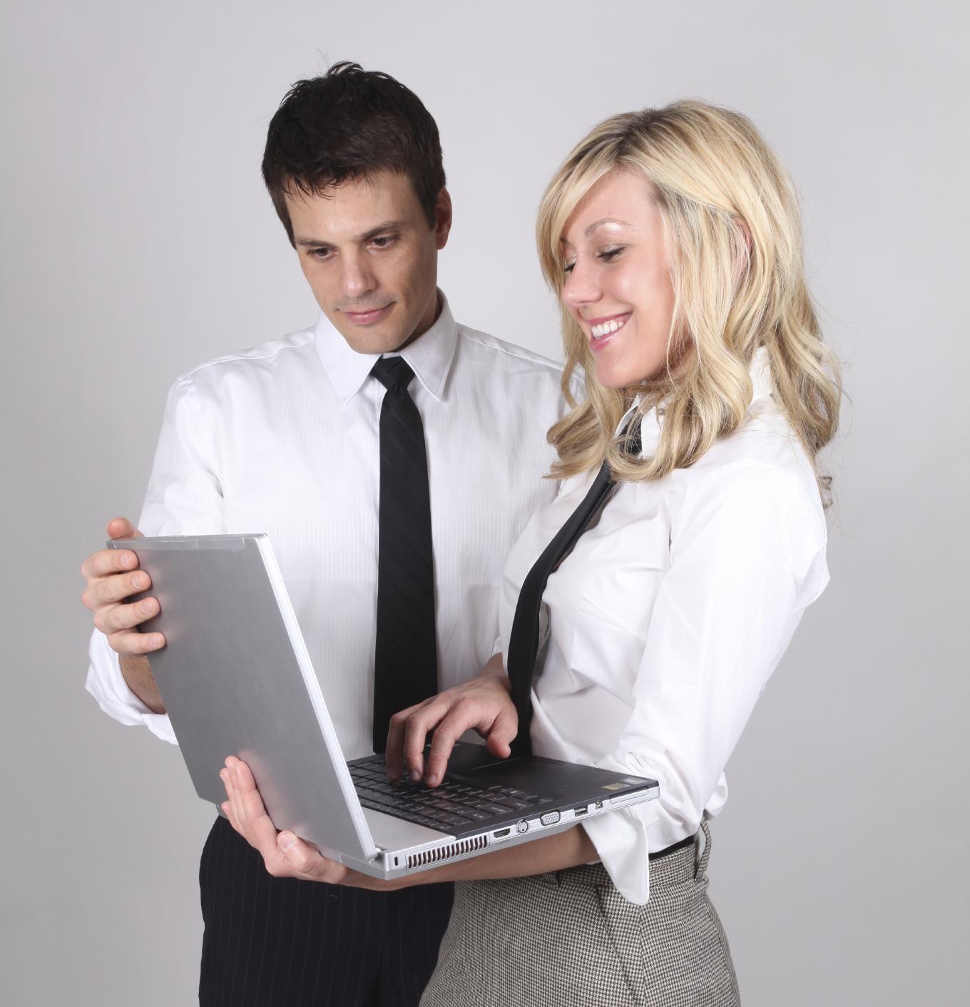 People - Using Laptop